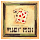 Walkin' Sticks Print by Jocelyne Anderson-Tapp