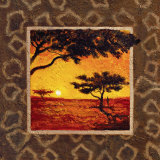 Savannah Sunset I Art by  Madou