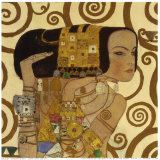 L&#39;attente Affiches par Gustav Klimt
