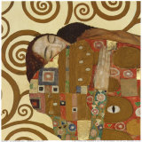 Fulfillment, Stoclet Frieze, c.1909 (detail) Print van Gustav Klimt