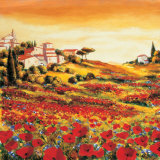 Valley of Poppies (detail) Prints by Richard Leblanc
