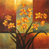 Orange Orchid Art by Jill Deveraux