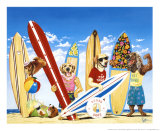 Surf Club Posters by Scott Westmoreland