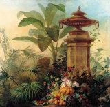 Flowers and Tropical Plants Kunstdrucke von Jean Capeinick