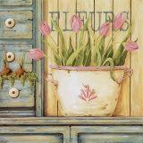 Fleurs Posters by Jo Moulton