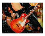 Les Paul Guitar JP Giclee Print by Rhonda Watson