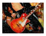 Les Paul Guitar JP Giclee Print by Rhonda Watson