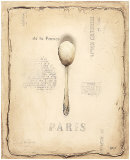 Parisian Spoon Posters by Emily Adams