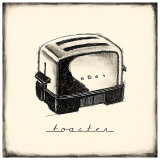 Vintage Toaster Art by Marco Fabiano