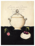 Soupe aux Cerises Prints by Emily Adams