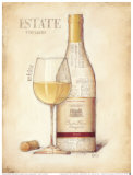 Estate Vineyards, White Prints by Emily Adams