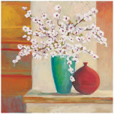 Apple Blossom Vase Prints by Claire Lerner