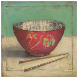 Red Bowl Prints by Claire Lerner