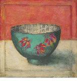 Blue Bowl Art by Claire Lerner