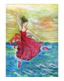 Ballet on Waters Giclee Print by MARIE L. LOH