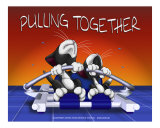 Pulling Together Photographic Print by Fred May