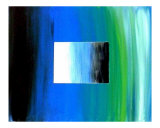 Abstract Blue And Green Giclee Print by Teo Alfonso