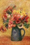 Jarrón con flores Láminas por Pierre-Auguste Renoir