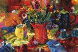 Cruche de fleurs Affiches par Peter Graham
