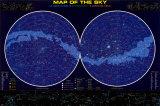 Karte vom Sternenhimmel Poster