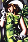 Ung pige i grønt Posters af Tamara de Lempicka