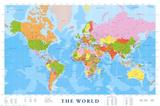 Världskarta, engelska Bilder