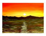 Scenic Seascape Sunrise Giclee Print by Teo Alfonso