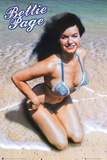 Bettie Page - In the Sand Poster
