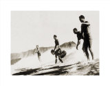 Tom and Crew, Diamond Head Prints by Tom Blake