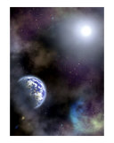 Space scenario Photographic Print by Stasys Eidiejus
