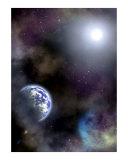 Space scenario Photographic Print by Stasys Eidiejus