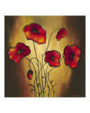 Red Poppies 2 Giclee Print by K. Kobylecka