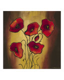 Red Poppies 1 Giclee Print by K. Kobylecka