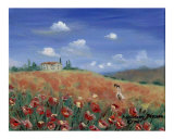 Picking Poppies Giclee Print by Rosemary Babikan