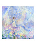 Angel in the Meadow Giclee Print by Rosemary Babikan