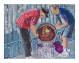 Boiling Mud Bugs Giclee Print by Garland  R Oldham