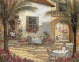 Courtyard Ambiance Prints by Ruane Manning