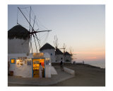 Mykonos Windmills Photographic Print by David Smith