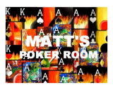 Matt's Poker Room Giclee Print by Teo Alfonso