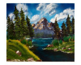 Rocky Mountain Lake Giclee Print by Garland  R Oldham