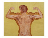 Time of Bodybuilder - Back Giclee Print by Jan Karpisek