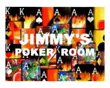 Jimmy's Poker Room Giclee Print by Teo Alfonso
