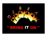 Bring It On Poker Sign Giclee Print by Teo Alfonso