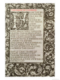 "The Rape of Lucrece, from ""The Poems of William Shakespeare"" Published by Kelmscott Press, 1893 Giclee Print by William Morris"
