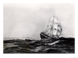 The Endeavour at Sea, 1900 Giclee Print by Percy F.s. Spence