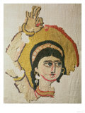 Head of a Dancer, Tapestry, Egyptian Coptic Period, circa 300-1100 AD Giclee Print