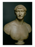 Roman Emperor Trajan Portrait Bust, 1st-2nd C. Giclee Print