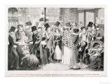 "The Gin Shop, Plate 1 of ""The Drunkard's Children,"" 1848 Giclee Print by George Cruikshank"
