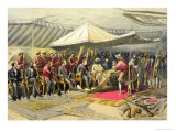 The Return Visit of the Viceroy to the Maharajah of Cashmere, 1863 Giclee Print by William Simpson