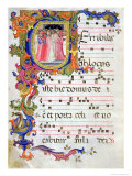Page with Historiated Initial &quot;U&quot; Giclee Print by Bartolomeo Di Frusino 